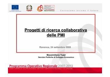Progetti di ricerca collaborativa delle PMI - Provincia di Ravenna