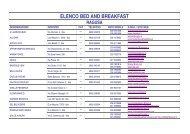 ELENCO BED AND BREAKFAST - Provincia Regionale di Ragusa
