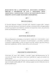 Regolamento per la concessione di sovvenzioni, contributi ordinari ...