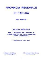 Regolamento per la disciplina dell'attività di consulenza per la ...