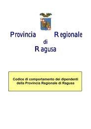 Codice di comportamento dei dipendenti - Provincia di Ragusa