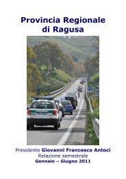 Relazione 1º semestre 2011 - Provincia Regionale di Ragusa