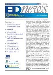 1. News, informazioni e curiosità dall'Europa 2. Concorsi 3 ...