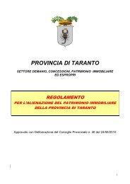 REGOLAMENTO Alienazione patrimonio immobiliare - Provincia di ...