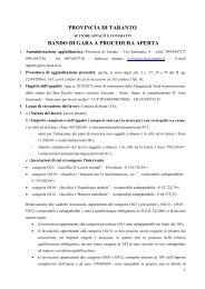 Bando di gara (.pdf 32 Kb) - Provincia di Taranto