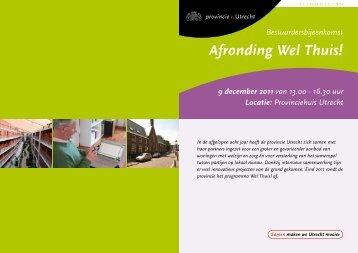 Programma Bestuurdersbijeenkomst - Provincie Utrecht