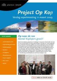 Verslag expertmeeting 11 maart 2009 (PDF, 598 ... - Provincie Utrecht