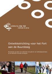Verbinding cultuur en toerisme Ontwikkelrichting ... - Provincie Utrecht