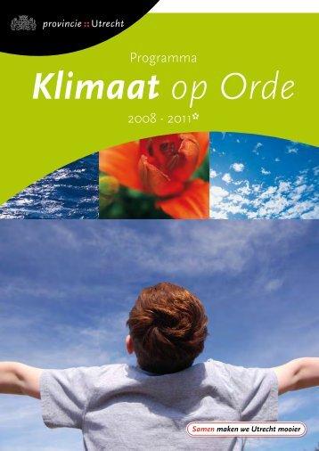 Klimaat op Orde (PDF, 593 Kb) - Provincie Utrecht