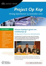 Op Kop verslag, 19 november 2010 - Provincie Utrecht