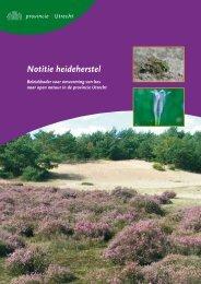 Notitie Heideherstel (PDF, 4 MB) - Provincie Utrecht
