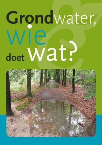 Grondwater, Wie doet wat? (pdf) - Waterschap Veluwe