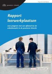Rapport leerwerkplaatsen - Provincie Utrecht