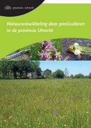 Natuurontwikkeling door particulieren in de provincie Utrecht (PDF ...