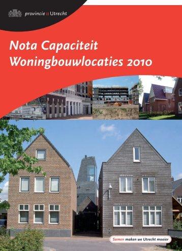 Nota Capaciteit Woningbouwlocaties 2010 - Provincie Utrecht