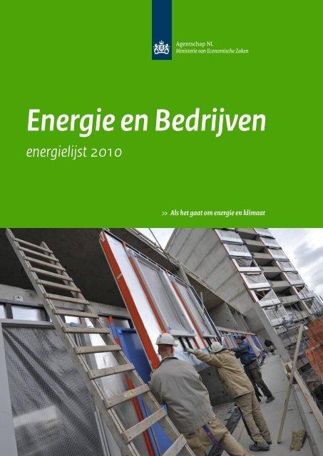 Energie en Bedrijven - energielijst 2010