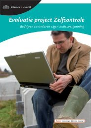 Evaluatie proef zelfcontrole, september 2010 - Provincie Utrecht