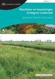 Resultaten en toepassingen Ecologisch onderzoek - Provincie Utrecht