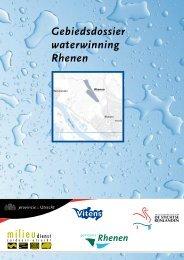 Gebiedsdossier waterwinning Rhenen - Provincie Utrecht