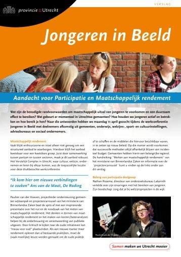 Verslag 'Jongeren in beeld' - Provincie Utrecht