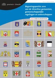 Begrotingspositie 2010 van de Utrechtse ... - Provincie Utrecht