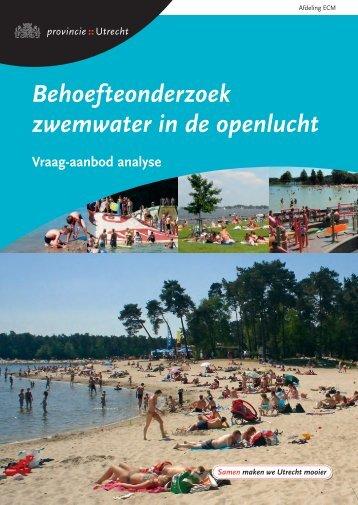 Behoefteonderzoek zwemwater in de openlucht - Provincie Utrecht