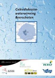 Gebiedsdossier waterwinning Beerschoten - Provincie Utrecht