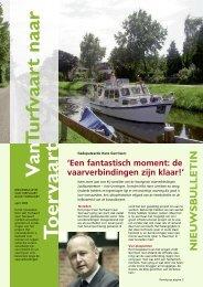 Nieuwsbulletin Van Turfvaart naar Toervaart - Provincie Groningen