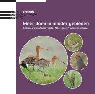Meer doen in minder gebieden - Provincie Groningen