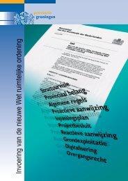 Invoering van de nieuwe Wet ruimtelijke ordening - Provincie ...