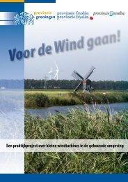 Voor de Wind gaan! brochure - Provincie Groningen