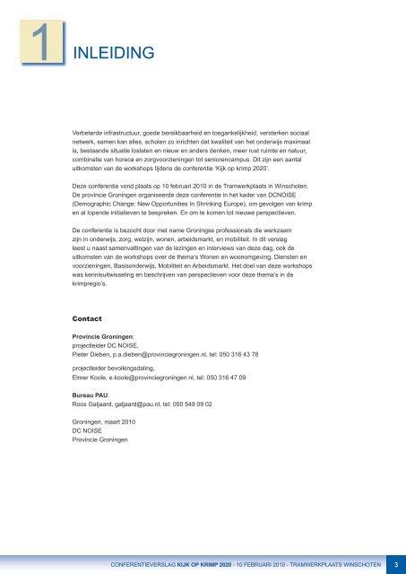 'Kijk Op Krimp 2020' conferentieverslag - Provincie Groningen