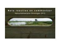 Nota reacties en commentaar - Provincie Groningen