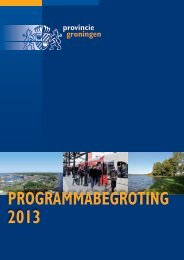 Programmabegroting 2013 - Provincie Groningen