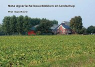 Nota Agrarische bouwblokken en landschap - Provincie Groningen