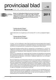 Provinciaal blad 33 van 2011 - Provincie Groningen