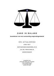 ZAND IN BALANS - Provincie Groningen