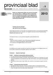 Provinciaal blad 5 van 2013 - Provincie Groningen