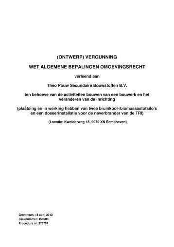 273757 Theo Pouw Ontwerpbesluit def doc - Provincie Groningen