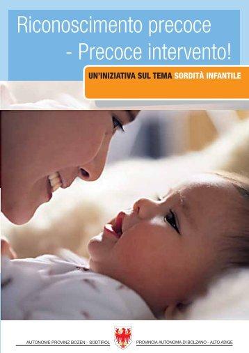 La sordità infantile - Rete Civica dell'Alto Adige