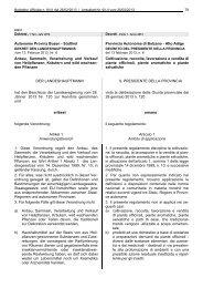 Autonome Provinz Bozen - Südtirol Provincia Autonoma di Bolzano ...