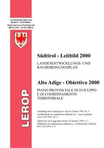 Piano provinciale di sviluppo e coordinamento territoriale LEROP