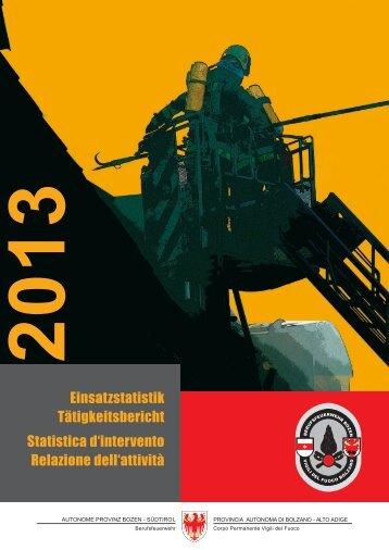 Statistica d'intervento - Rete Civica dell'Alto Adige