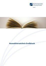 Auswahlverzeichnis Großdruck
