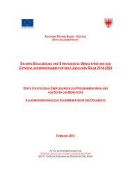 Erste strategische Überlegungen zur Programmentwicklung von ...