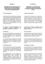 Criteri per la concessione di contributi