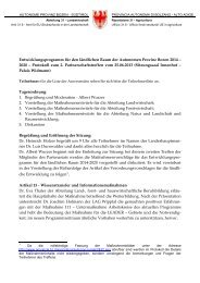 Protokoll zum 2. Partenariatstreffen - Rete Civica dell'Alto Adige