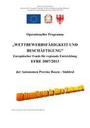 Europäischer Fonds für regionale Entwicklung 2007-2013