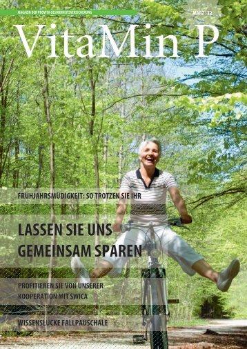 VitaMin P Frühling 2012 - Provita Gesundheitsversicherung
