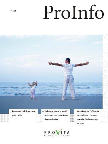 ProInfo avril 2005 - Provita Gesundheitsversicherung